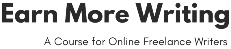 Earn More Writing Course