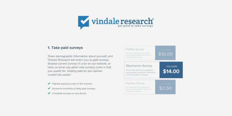 Vindale Research Review: Take Paid Surveys