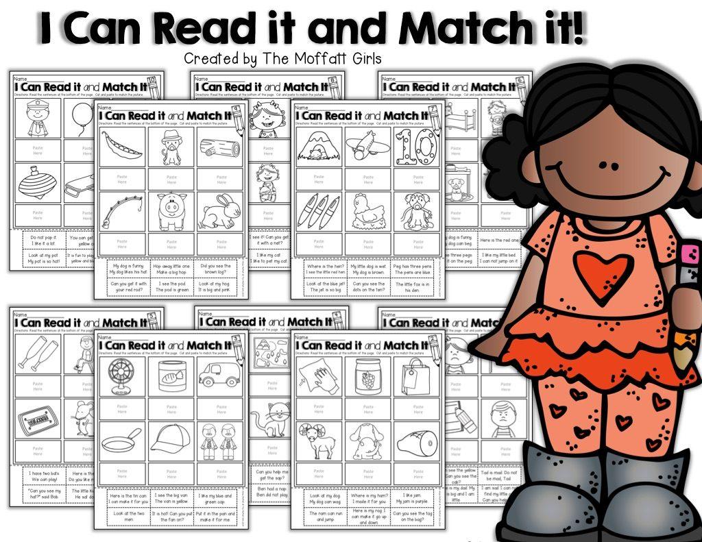 I Can Read Simple Sentences Set 1 No Prep Packet