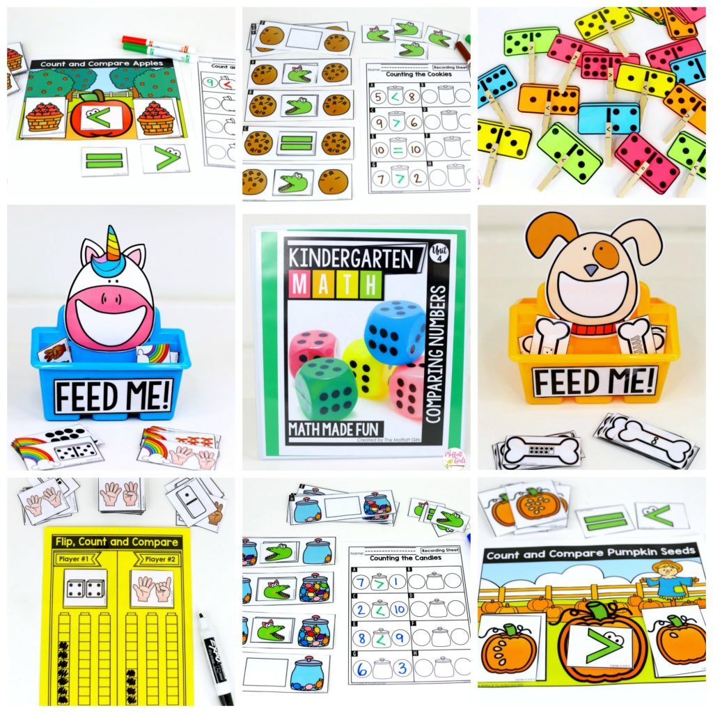 Kindergarten Math Comparing Numbers