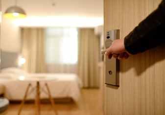 bedroom door entrance guest room
