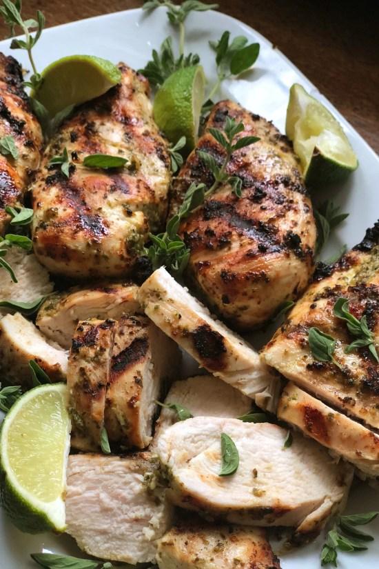 Simple Herbed Grilled Chicken / Katie Workman / themom100.com