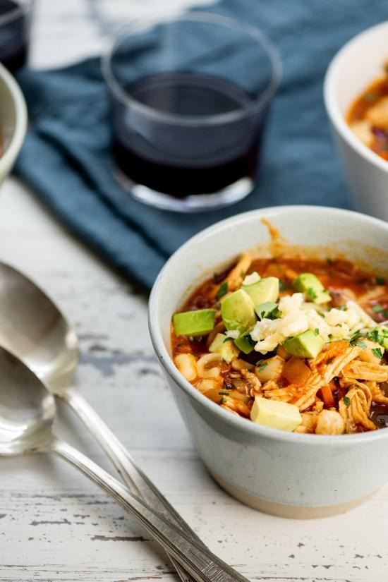 Turkey Posole Soup in a bowl