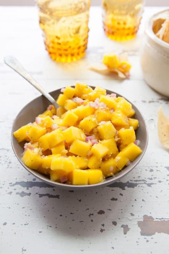 Citrusy Mango Ginger Salsa / Photo by Kerri Brewer / Katie Workman / themom100.com