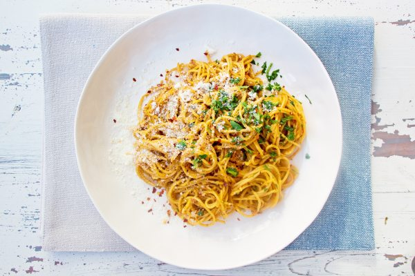Pasta with Creamy Sundried Tomato and Scallion Sauce / Mandy Maxwell / Katie Workman / themom100.com