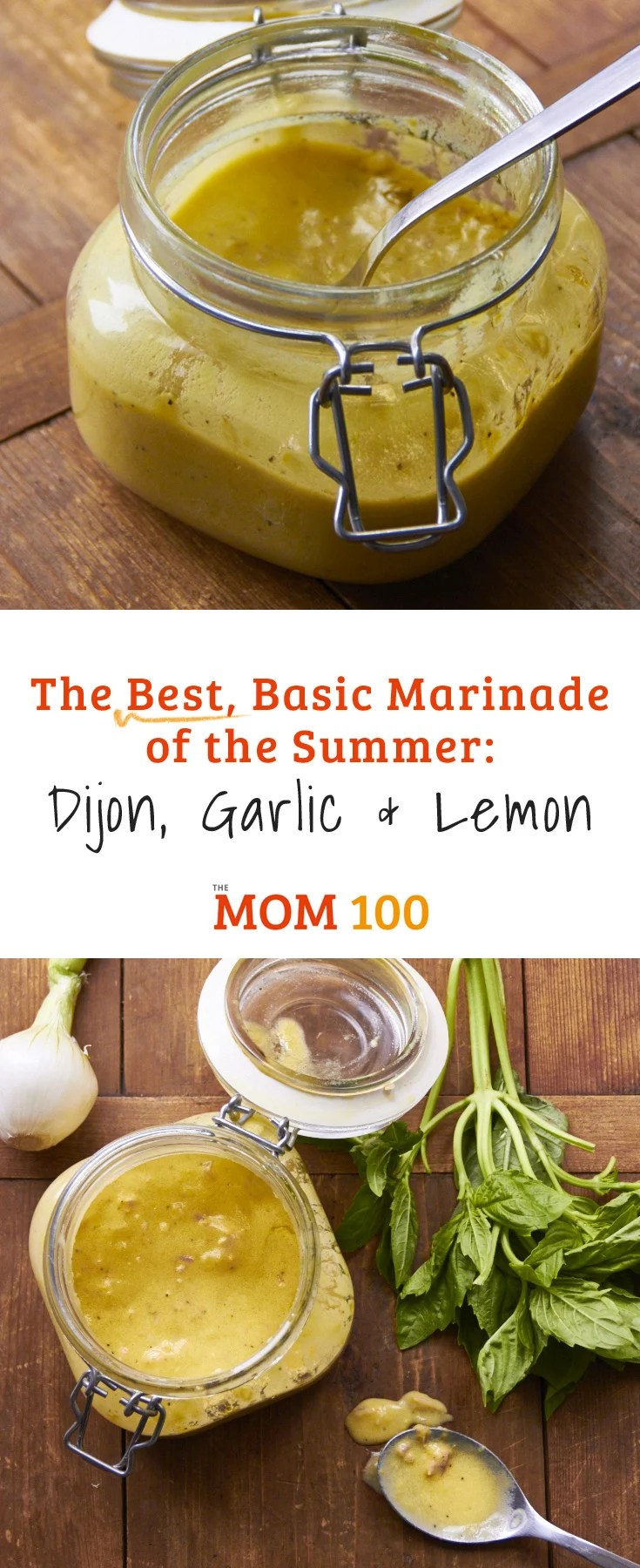 If you want one boilerplate marinade, this is it. This 5-ingredient dijon, garlic and lemon marinade is perfect for chicken, pork, shrimp, and any fish.