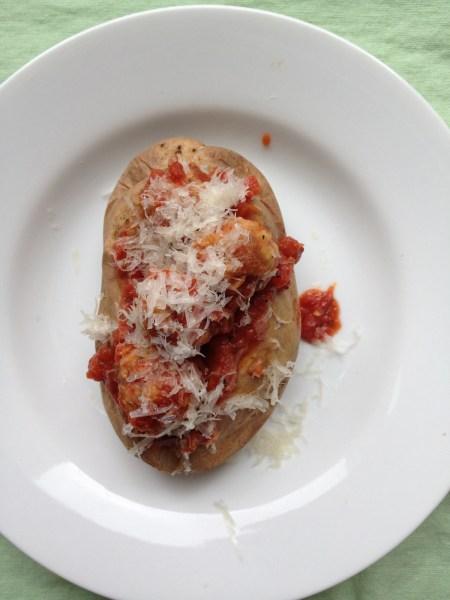 Baked Potato Meatball Sub