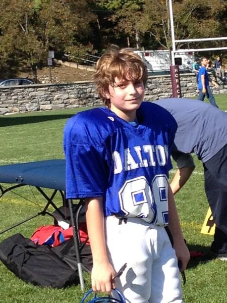 Jack in football gear