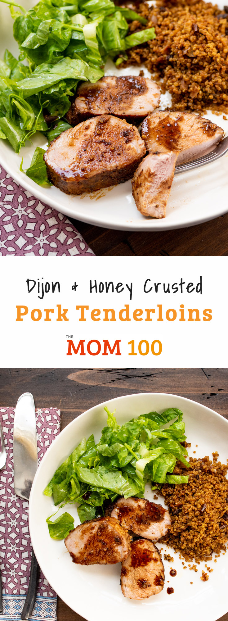 Dijon and Honey Crusted Pork Tenderloins are one of the most brilliant solutions to dinnertime. Inexpensive, quick, and easy to prepare.
