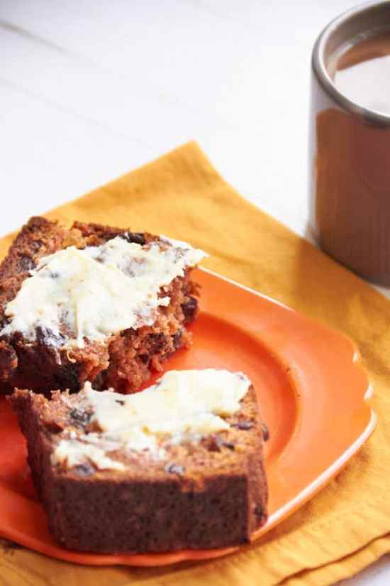 Carrot Raisin Bread Healthy / Mia / Katie Workman / themom100.com