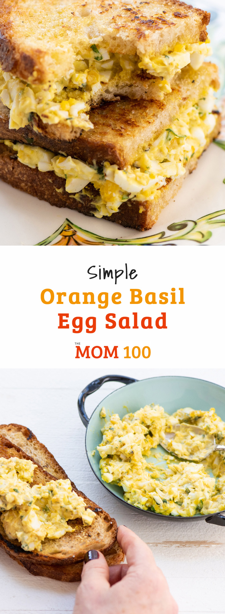 Simple Orange Basil Egg Salad: A modern variation on the luncheonette classic. Heap it on crackers, grab some bread or toast and make a sandwich or eat it out of the bowl.