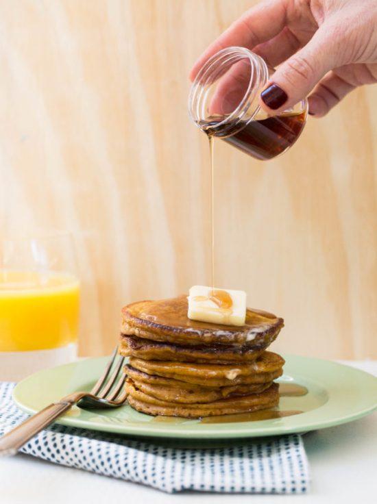 Pumpkin Spice Pancakes / Sarah Crowder / Katie Workman / themom100.com