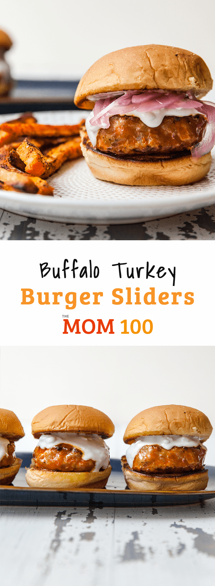 Buffalo Turkey Burger Sliders / Easy buffalo turkey burger sliders that will quickly become part of your regular rotation. Who doesn\'t love the idea of comfort-bar food at home?