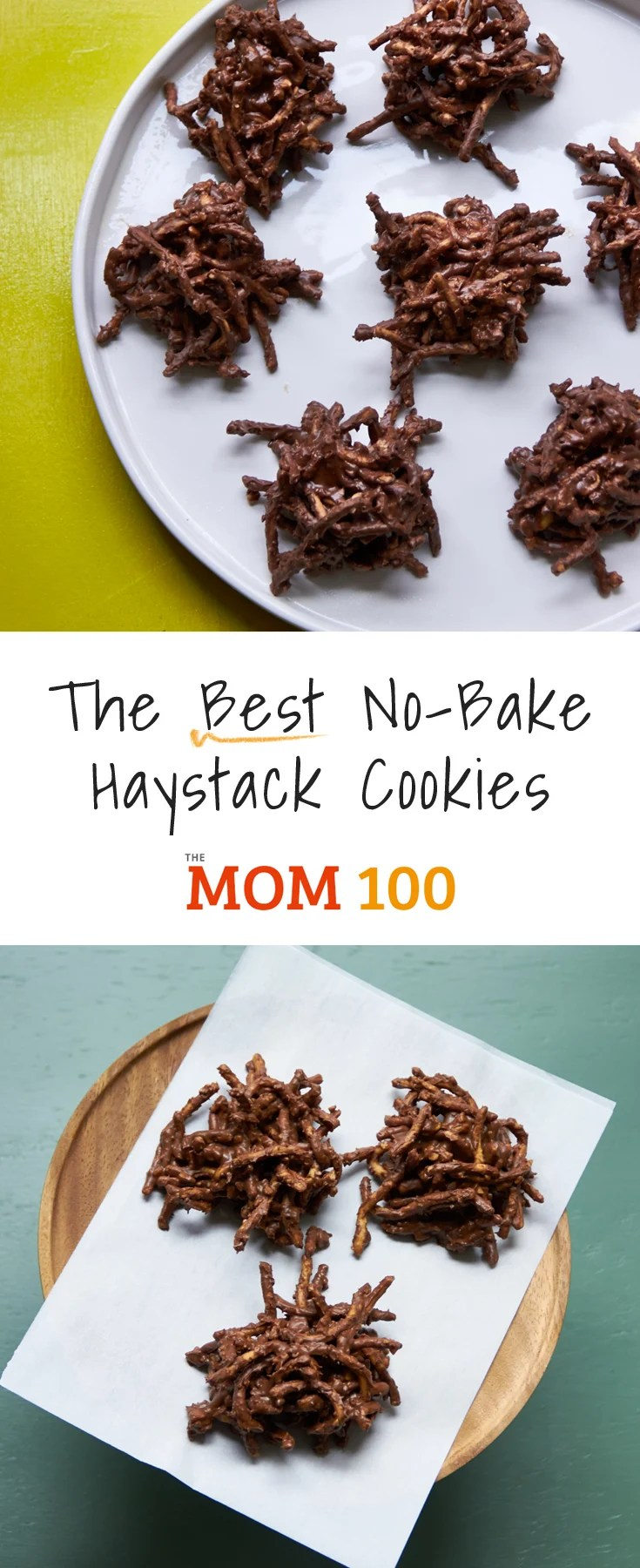 The Best No-Bake Haystack Cookies.  This amazing classic has a combination of butterscotch and chocolate chips, PLUS peanut butter and crushed peanuts.