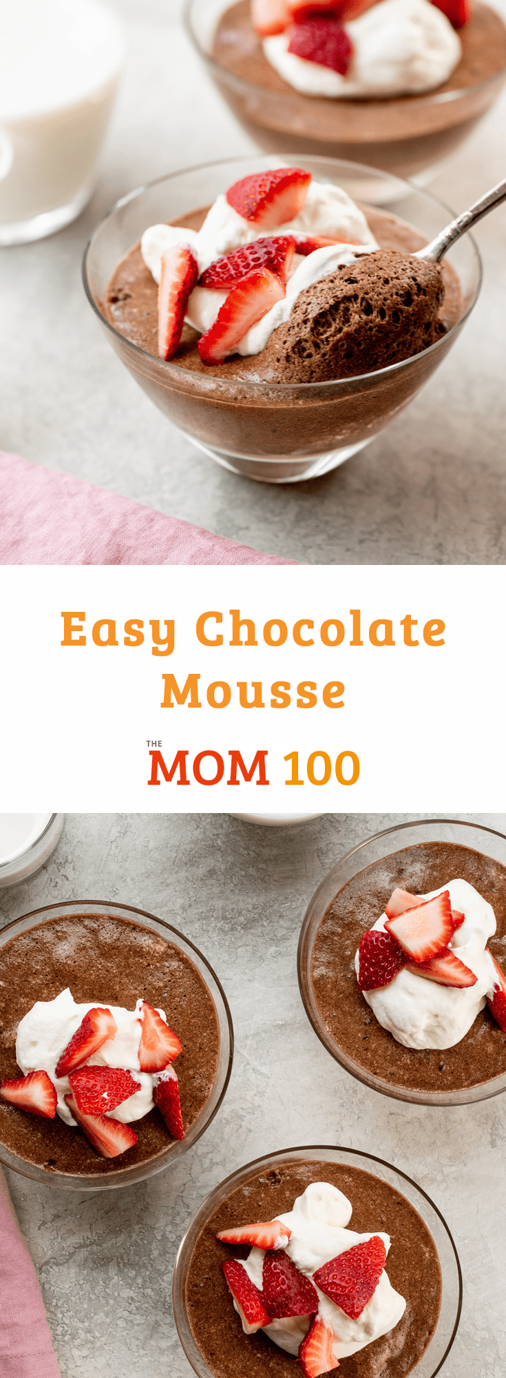 This Easy Chocolate Mousse with whipped cream is cool, creamy and seriously indulgent.