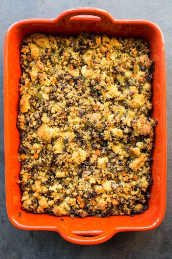 Cornbread and Mushroom Stuffing or Dressing