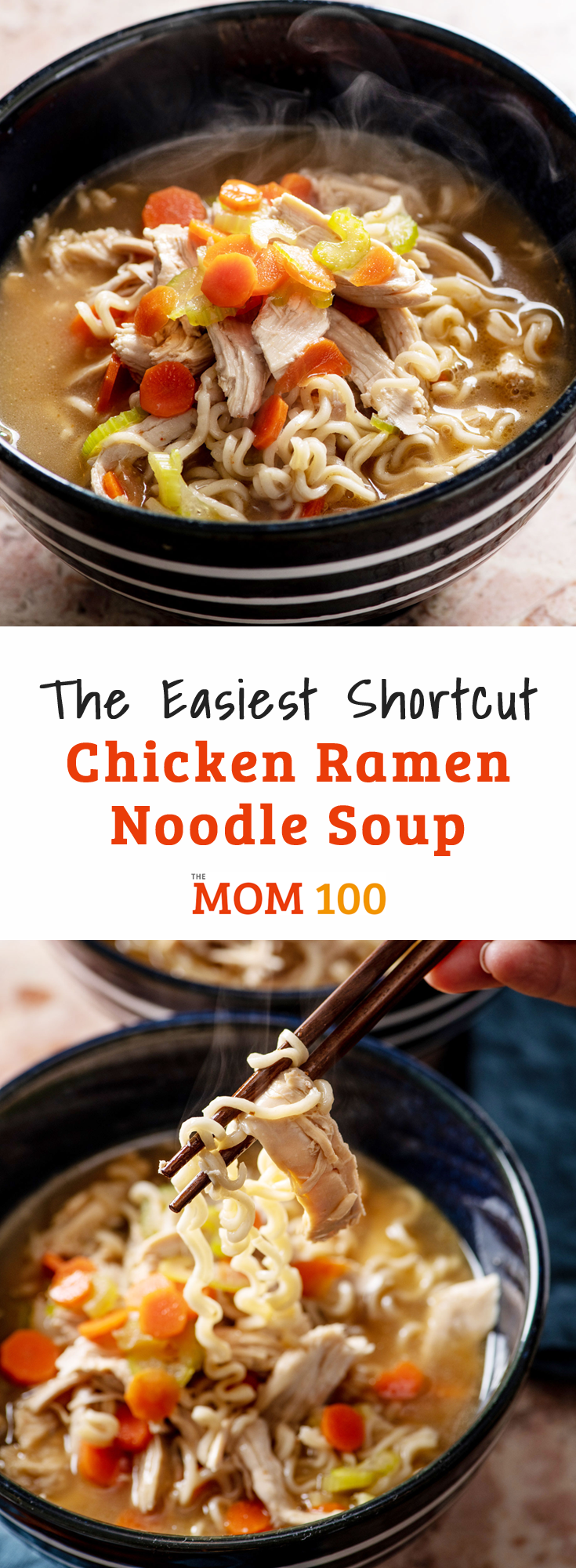 The Easiest Shortcut Chicken Ramen Noodle Soup pulls together a slew of clever shortcuts for a perfect chicken noodle soup.