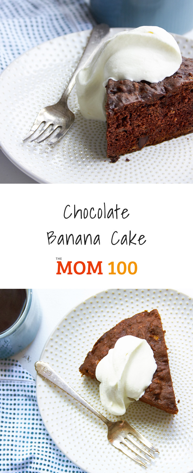 This Chocolate Banana Cake is super moist, and has what is just the right level of sweetness to qualify as breakfast, a snack, or dessert.