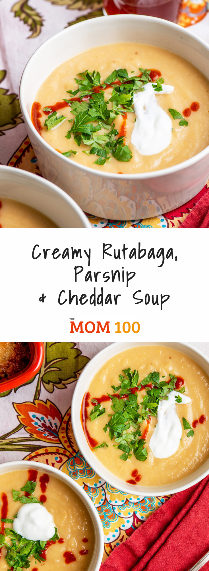 Creamy Rutabaga, Parsnip and Cheddar Soup: Simple, humble root vegetables turn into a beautiful, creamy, soul soothing soup.