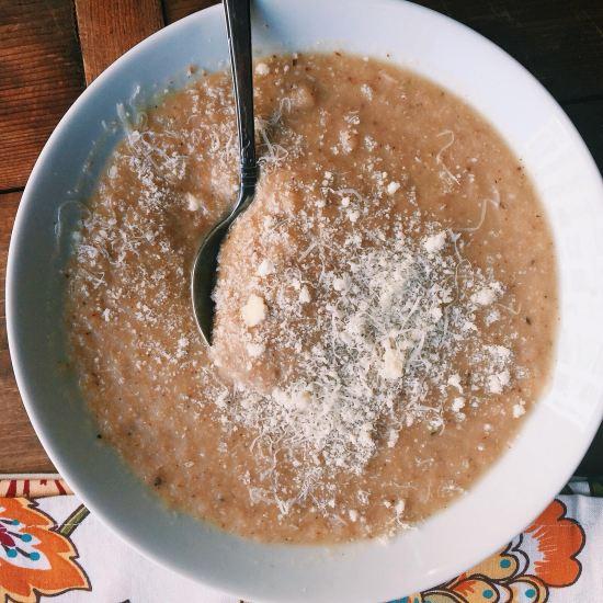 Roasted Cauliflower and Sunchoke Soup / Katie Workman themom100.com