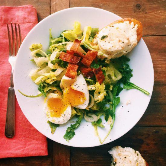 Bistro Salad with Warm Goat Cheese / Katie Workman themom100.com