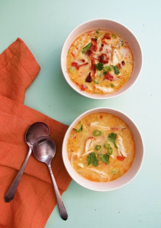 Chicken, Bacon and Corn Chowder / Laura Agra / Katie Workman / themom100.com