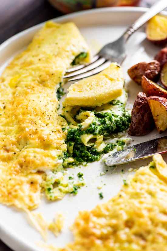 Kale Pesto and Goat Cheese Omelet