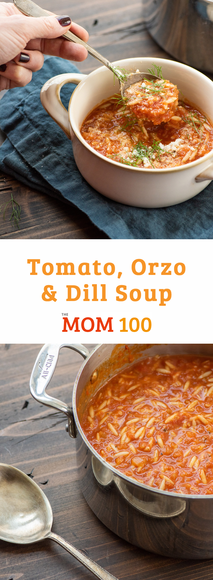 Make a soup people will remember—this comforting and hearty Tomato, Orzo and Dill Soup is really a meal, just top with a little fresh Parmesan to complete.