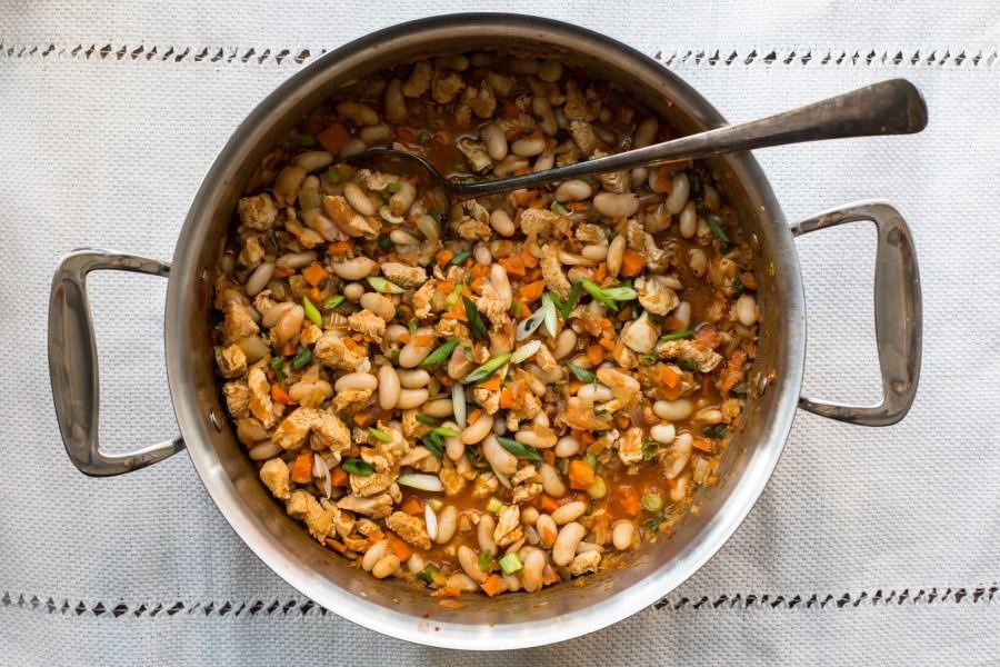 6 Ways to Make Back-to-School Weeknight Dinners Easier/ best back to school dinners/ Buffalo Chicken and White Bean Chili / Sarah Crowder / Katie Workman / themom100.com