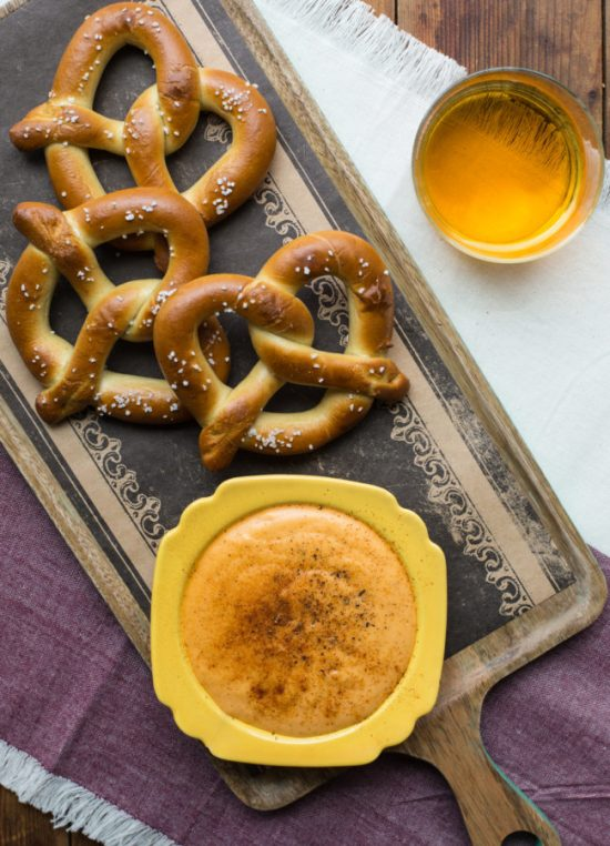 Cheese Beer Dip with Hot Pretzels / Sarah Crowder / Katie Workman / themom100.com