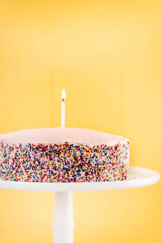 One Bowl Simple Vanilla Layer Cake / Photo by Cheyenne Cohen / Katie Workman / themom100.com