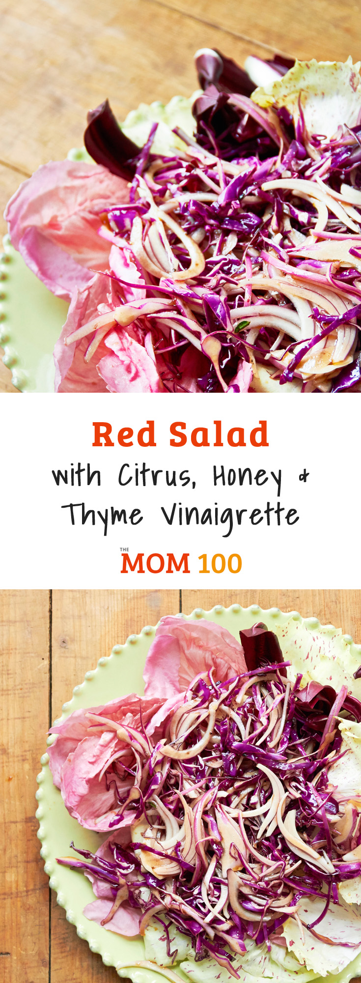 Red Salad with Citrus, Honey and Thyme Vinaigrette