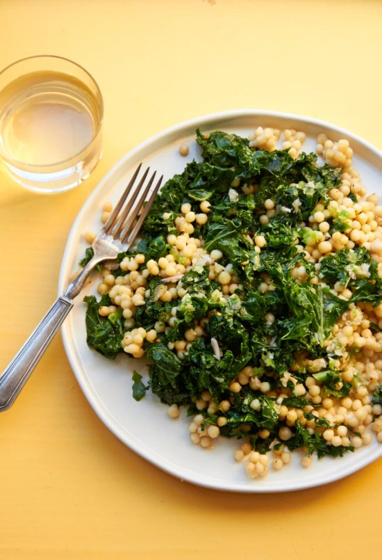 Lebanese Couscous with Sautéed Kale with Lemon Dressing / Mia / Katie Workman / themom100.com
