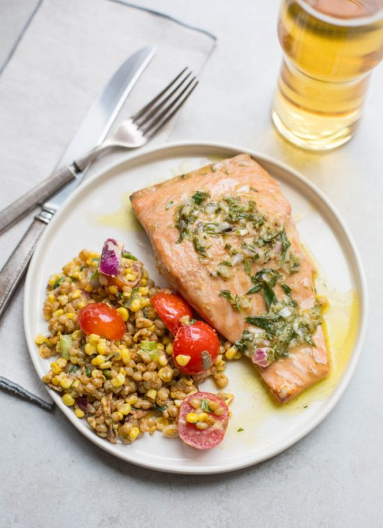 Salmon with Tarragon Vinaigrette