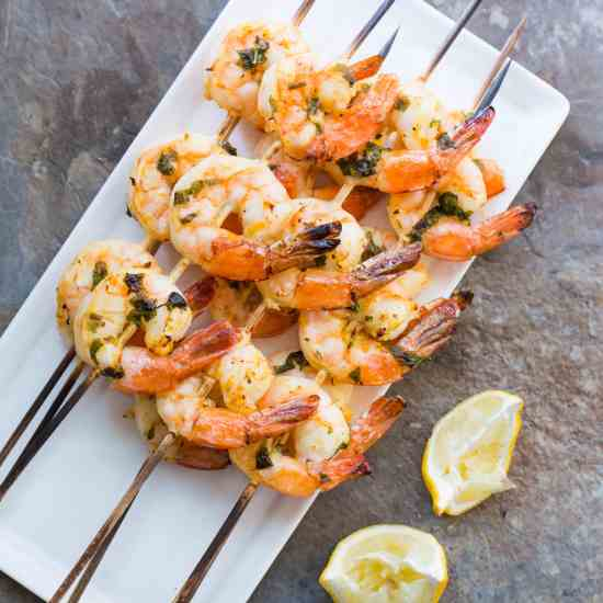 Citrus Basil Shrimp Kebabs / Sarah Crowder / Katie Workman / themom100.com