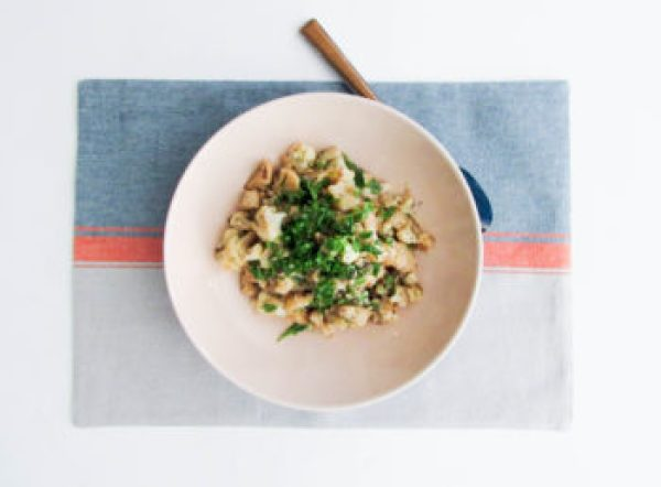 Braised Cauliflower with Anchovies and Capers / Lucy Beni / Katie Workman / themom100.com