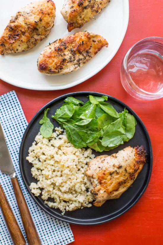 how do I thaw chicken/Greek Roasted Chicken Breasts / Sarah Crowder / Katie Workman / www.themom100.com