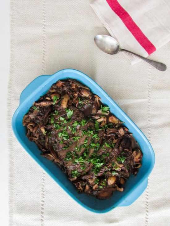 Beef Brisket with Wild Mushrooms / Lucy Beni / Katie Workman / themom100.com