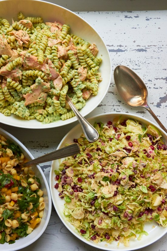 Brussels Sprouts, Apple, and Pomegranate Slaw Salad / Mia / Katie Workman / themom100.com