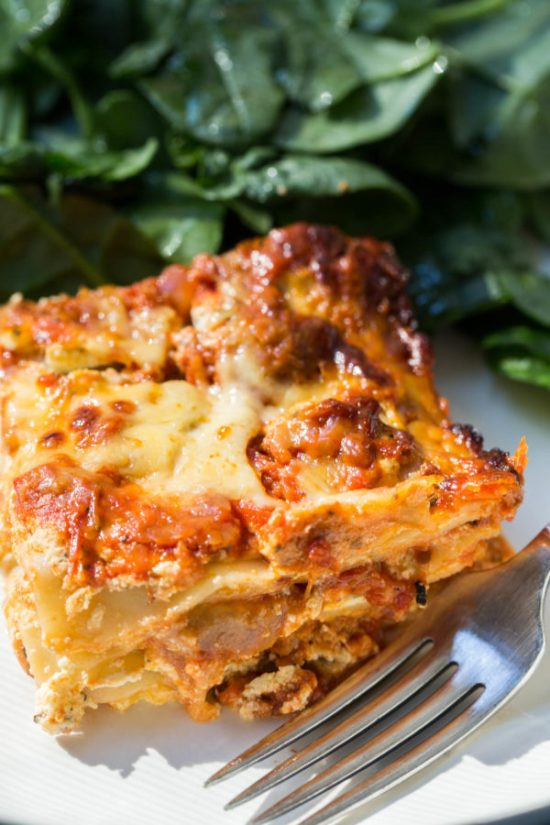 Classic Lasagna with Turkey Sausage