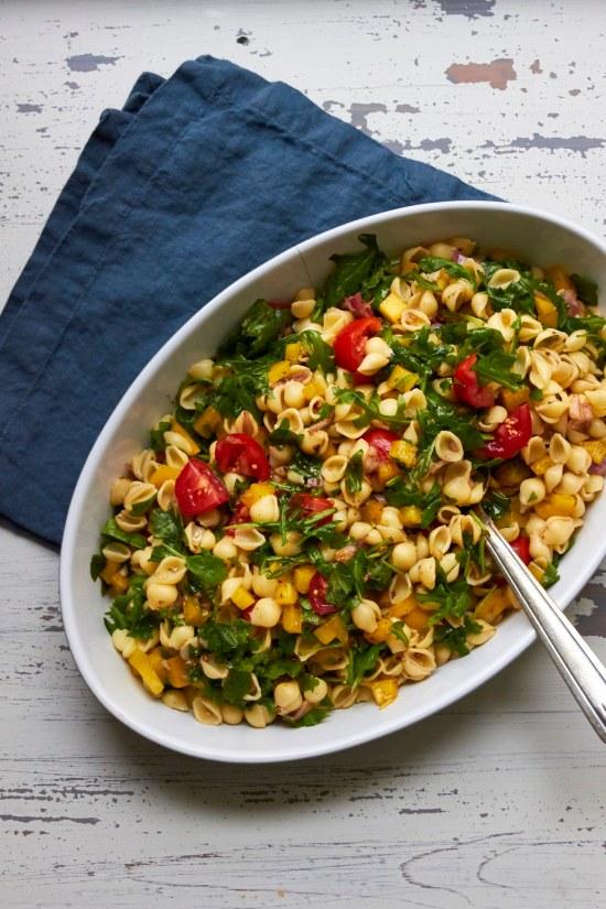 Simple Vegetarian Pasta Salad