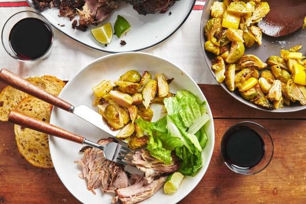 Fall-Apart Roasted Pork Shoulder with Rosemary, Mustard and Garlic