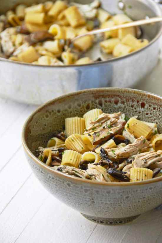 leftover chicken pasta/5-Ingredient Pasta: Chicken and Mushroom Marsala Rotelle / Mia / Katie Workman / themom100.com