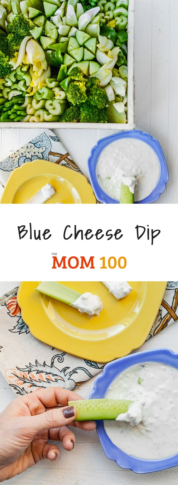 This Blue Cheese Dip is a classic for a reason. It\'s perfect for crudité, chips, wings, and more. Plus, you can easily transform this dip into a dressing!
