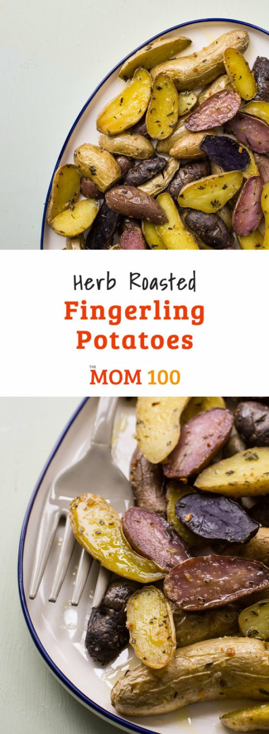 Herb Roasted Fingerling Potatoes / Mia / Katie Workman / themom100.com