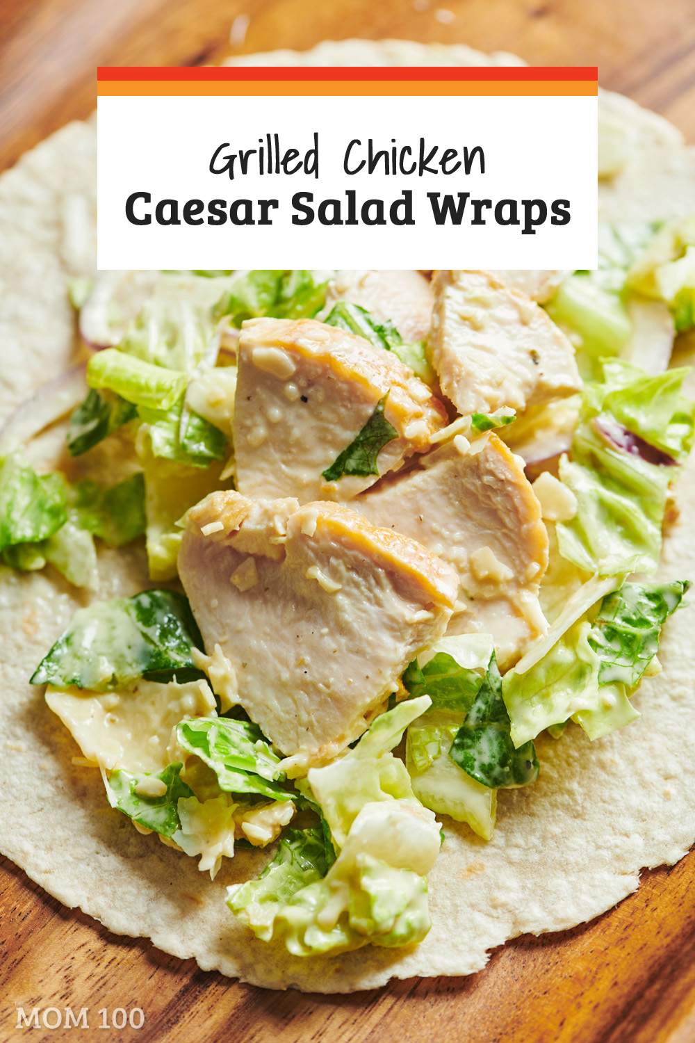 Grilled Chicken Caesar Salad Wraps:  Instead of buying this at Le Something Or Other, it\'s a very easy wrap to make at home!