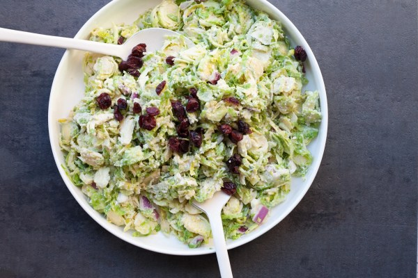Creamy Brussels Sprouts Slaw / Carrie Crow / Katie Workman / themom100.com