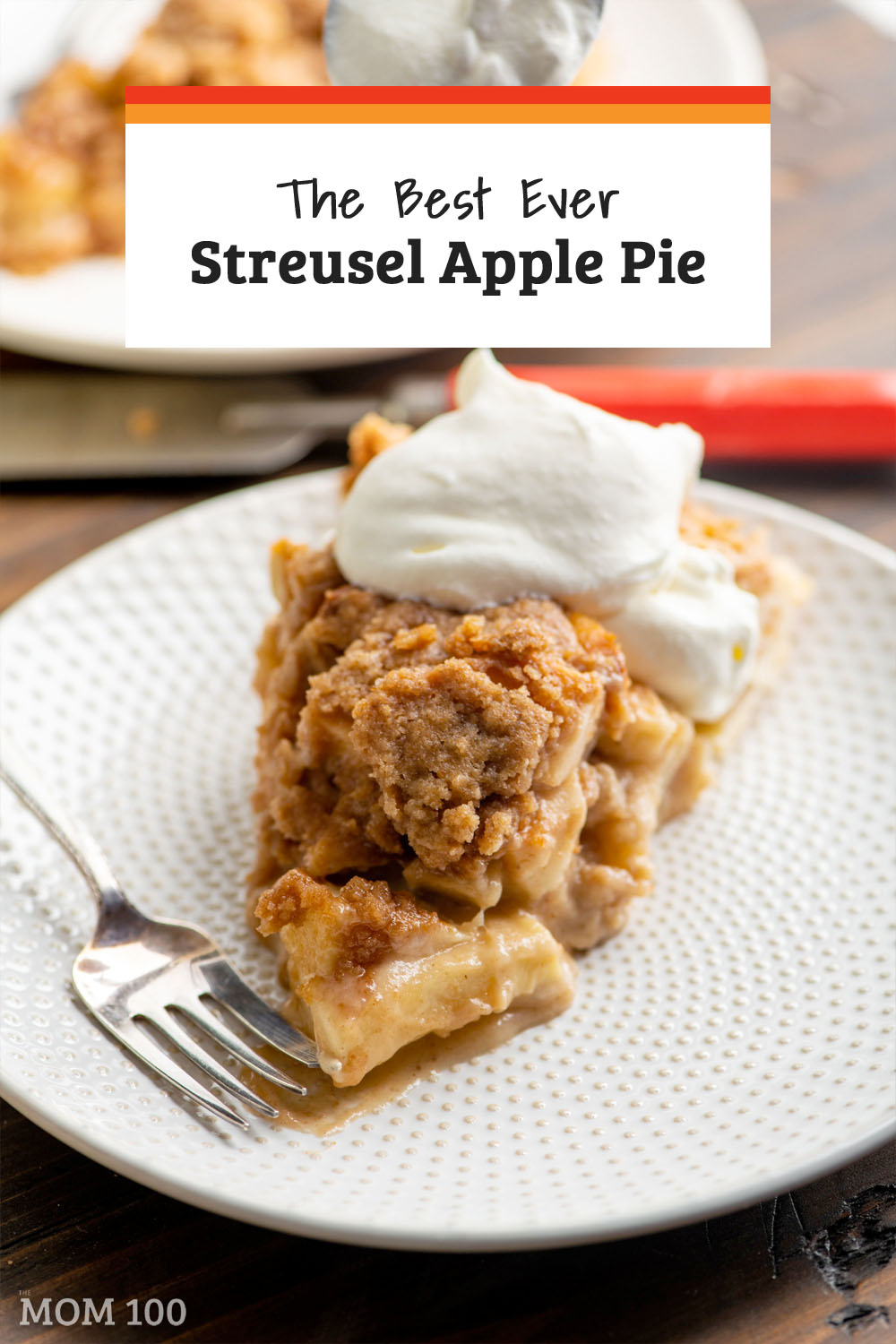 The Best Apple Streusel Pie Recipe Ever:  Sliced apples are blanketed and bound up with a custardy coating, with a thick layer of sweet, crumbly streusel topping.