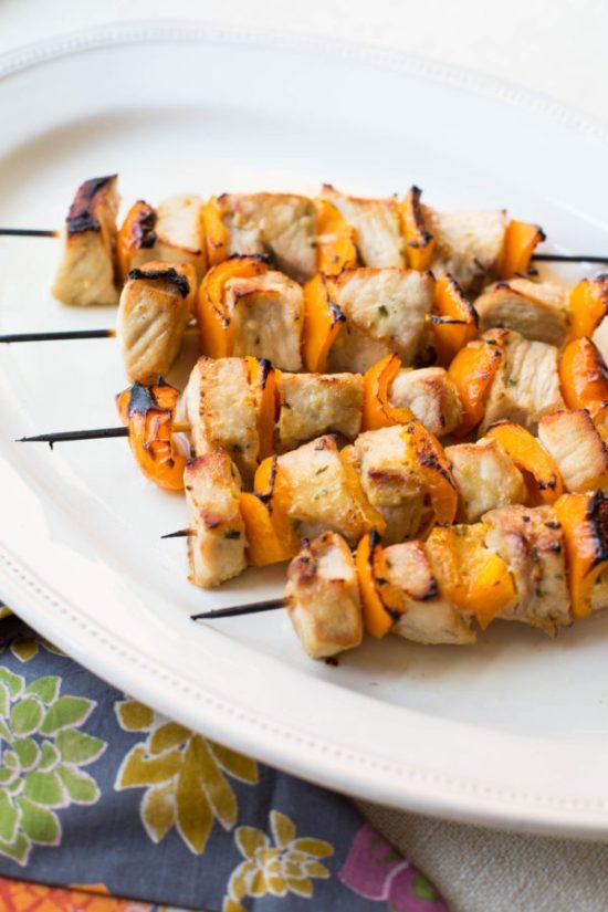 Mustard and Maple Pork Kebabs / Sarah Crowder / Katie Workman / themom100.com