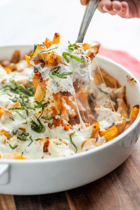 Pasta Bake with Ricotta / Katie Workman / themom100.com / Photo by Cheyenne Cohen